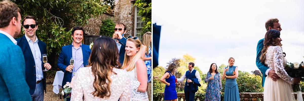 summer wedding at brympton house